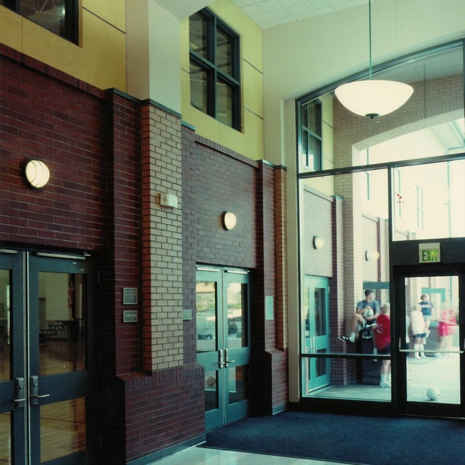 Seattle Christian School Interior Entry BPH Architects